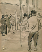 Camille PISSARRO (1830-1903) - Marché au Bétail