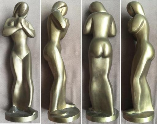 Ferdinand PARPAN - Sculpture-Volume - Femme à l'oiseau