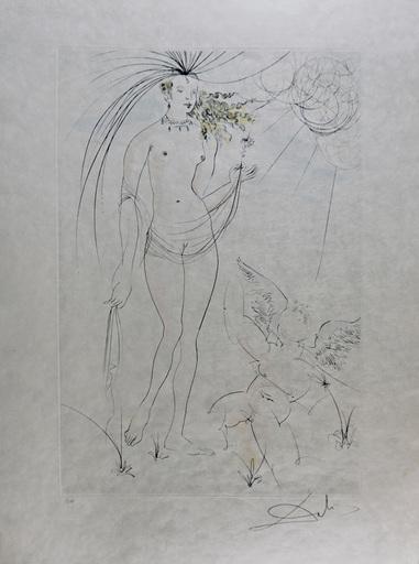 Salvador DALI - Stampa-Multiplo - Hommage a Albrecht Durer  Venus & Cupid