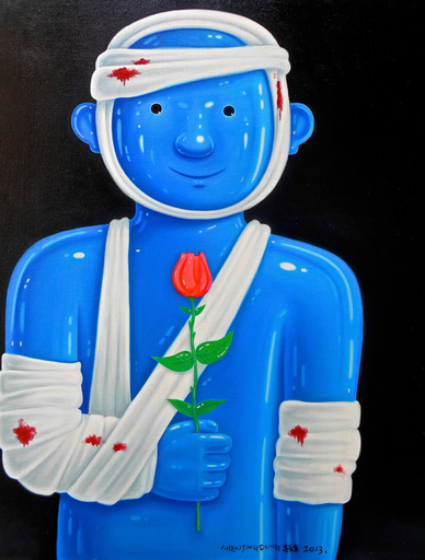 SHEN Jingdong - Painting - Soldier with a rose