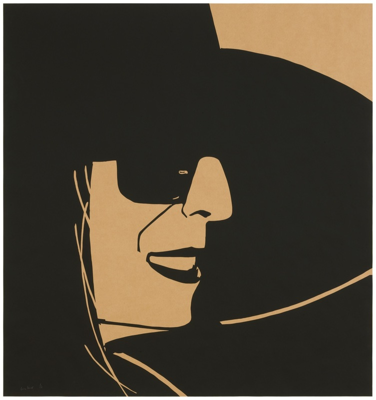 Alex KATZ - Estampe-Multiple - Big Black Hat Ada (brown)