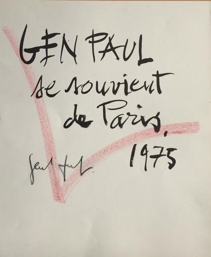 GEN PAUL - Disegno Acquarello - GEN PAUL SE SOUVIENT DE PARIS