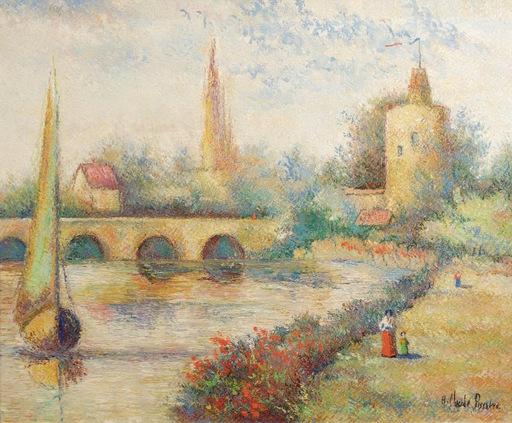 Hugues Claude PISSARRO - Painting - Le Pont de la Bijude