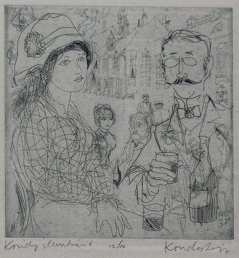 Lajos KONDOR - Grabado - Krudy, Illusztracio