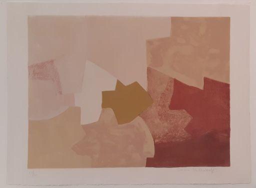 Serge POLIAKOFF - Estampe-Multiple - Composition rose n°22