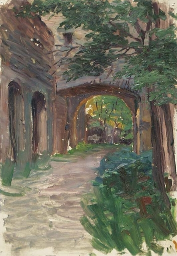 "Hugo SCHEYRER - Peinture - ""Landscape"", Oil Painting, 1920's"
