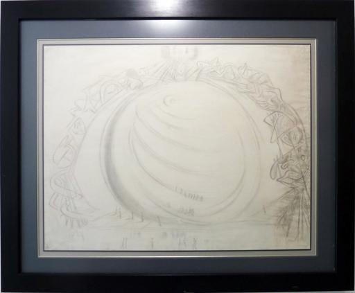 Salvador DALI - Disegno Acquarello - Figures Ascending a Spiral