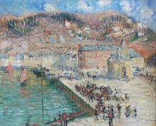 Gustave LOISEAU (1865-1935) - Fishsellers at Fecamp