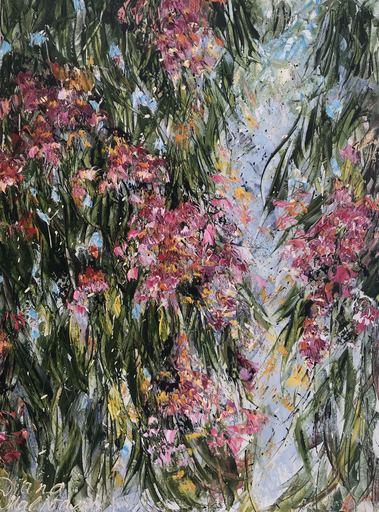 Diana MALIVANI - Pintura - Bloomy Eucalyptus Tree