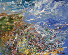 Juan ABELLO PRAT - Pittura - View of Sitges - Vista de Sitges