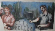 Gérard GAROUSTE - Peinture - Senza titolo
