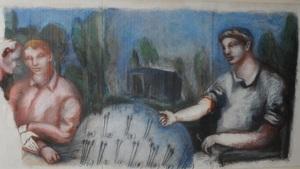 Gérard GAROUSTE - Pintura - Senza titolo