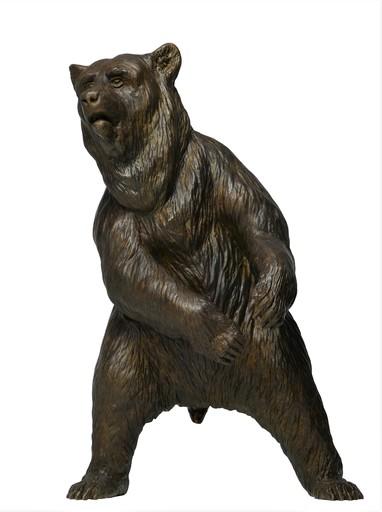 Damien COLCOMBET - Skulptur Volumen - Ours brun debout
