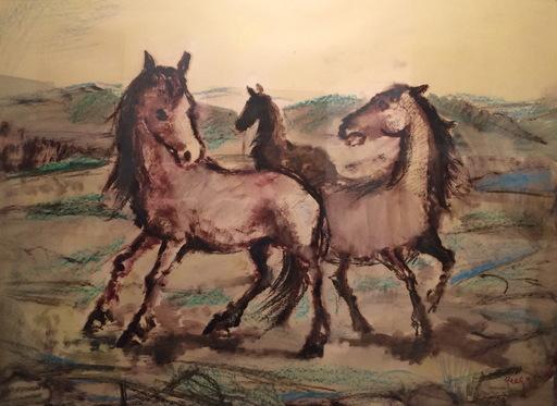 Manuel PREGO DE OLIVER - Pittura - caballos