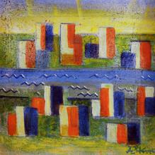 Ibrahim KODRA - Pintura - Città nuova