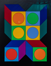 Victor VASARELY - Stampa Multiplo - XICO VY 29 C