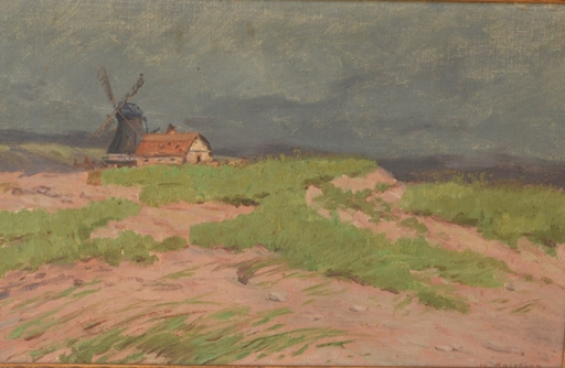 Wartan MAHOKIAN - Peinture - Paysage au moulin