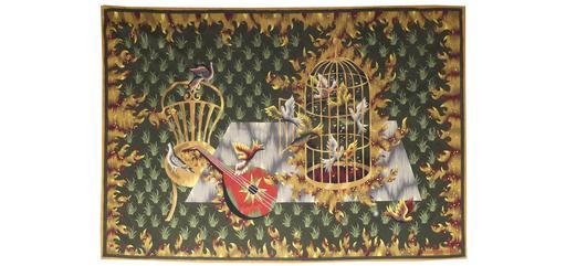 Jean PICART LE DOUX - Tapestry - les oiseaux s'envolent