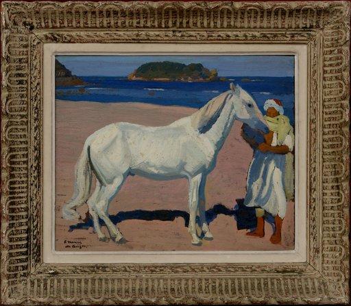 "Frédéric Marius DE BUZON - Pintura - ""LE CHEVAL BLANC"""