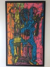 Robert COMBAS - Peinture - THE BLUE HOMME AU CHANT