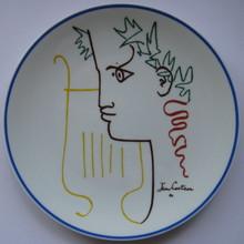 Jean COCTEAU - Cerámica - ASSIETTE SIGNÉ NUM/1000 PORCELAINE LIMOGES SIGNED PLATE