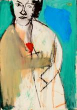 Ori REISMAN - Pintura - A girl with a flower