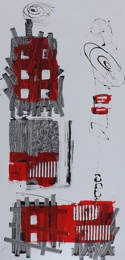 Benoit THIEL - Painting - THE RED AFTER