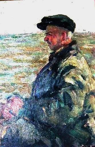 Iosif Michajlovic GURVIC - Pittura - Fisherman