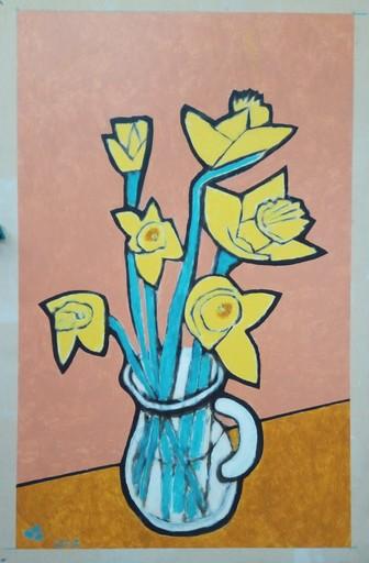 Harry BARTLETT FENNEY - Peinture - les jonquilles