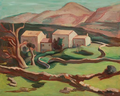 Karl HAUK - Peinture - Kroatische Landschaft