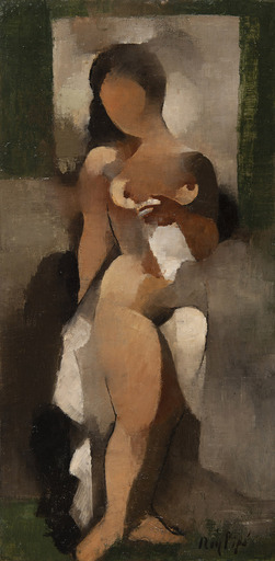 Manolo RUIZ PIPO - Pintura - Nue drapée