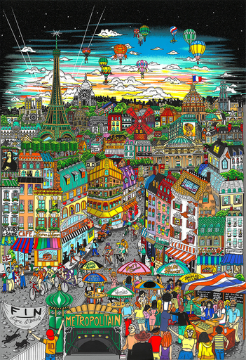 Charles FAZZINO - Stampa-Multiplo - La magnificence de Paris