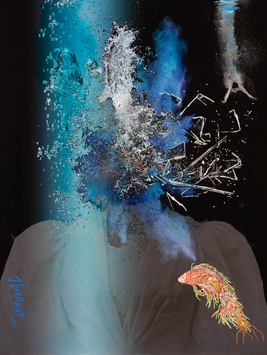 Jean-Luc CURABET - Painting - Comme un poisson dans l'eau chaude