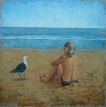 Carlos ESTEBAN - Painting - La plage à Honfleur 2    (Cat N° 3436)