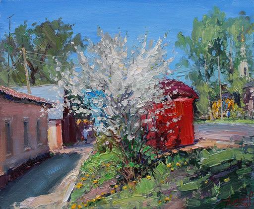 Yuriy DEMIYANOV - Gemälde - A l'Arrêt en Avril