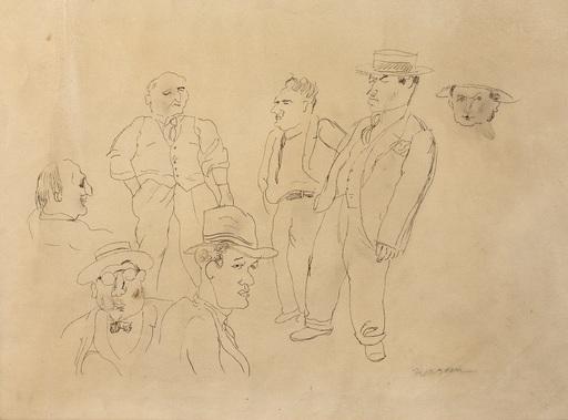 Jules PASCIN - Dibujo Acuarela - Figure Studies