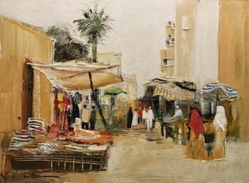 Michel JOUENNE - Peinture - Les Tissus d'Alexandrie