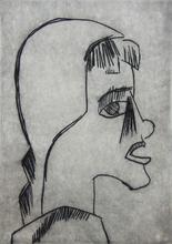 Karl SCHMIDT-ROTTLUFF - Grabado - Girl's Head I Mädchenkopf