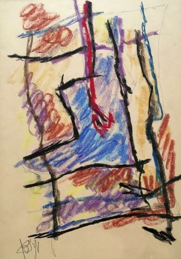 Marcel JANCO - Drawing-Watercolor - Composition