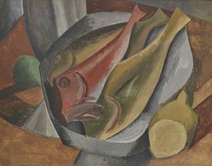Pablo PICASSO - Dessin-Aquarelle - Les poissons