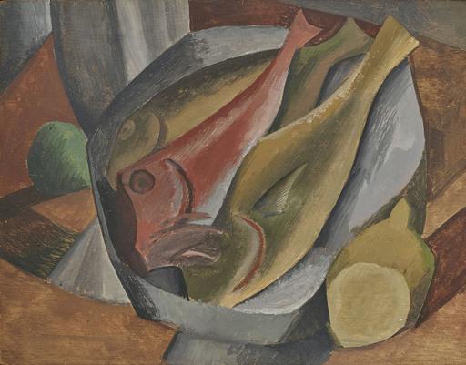 巴勃罗•毕加索 - 水彩作品 - Les poissons
