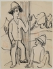 Ernst Ludwig KIRCHNER - Drawing-Watercolor - Hirten