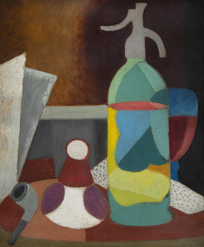 Manuel ORTIZ DE ZARATE - Painting - Composition au siphon