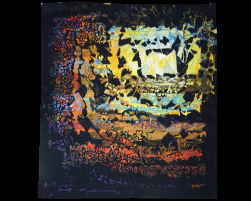 Mathieu MATÉGOT - Tapestry - Soleil carré