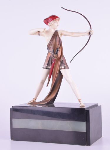 Johann Philipp Ferdinand PREISS - Sculpture-Volume - Johann Philipp PREISS (1882-1943) — Diana the Archer