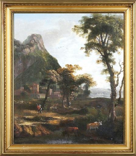 Johann Heinrich ROOS - Pintura - c.1680-85 Pastoral Italian landscape
