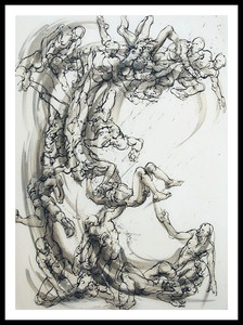 Marie TAKLANTI - Drawing-Watercolor - La vague 2