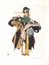 Norman Perceval ROCKWELL - Print-Multiple - *Hatcheck Girl