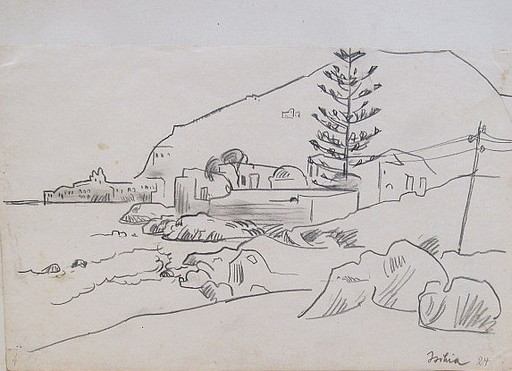 Erich HARTMANN - Drawing-Watercolor - Ischia