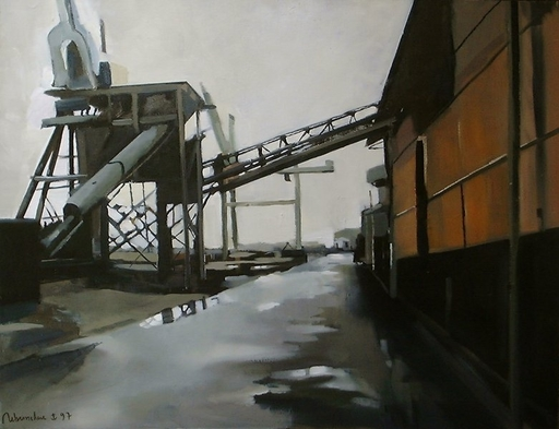 Christoff DEBUSSCHERE - Pittura - L'usine de Zeebrugge